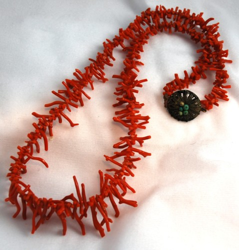Red Branch Coral Necklace